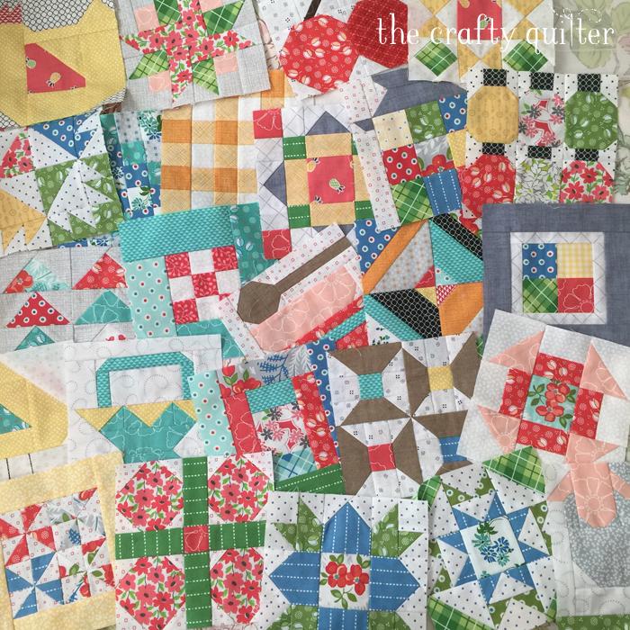 Farm Girl Vintage blocks made by Julie Cefalu & Paula Ivers