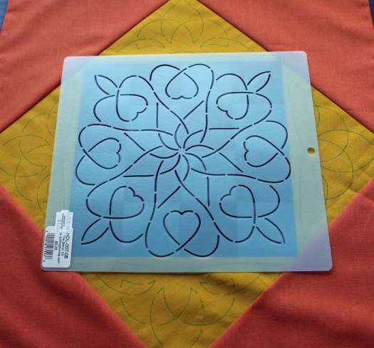 How to use stencils with quilting @ The Crafty Quilter