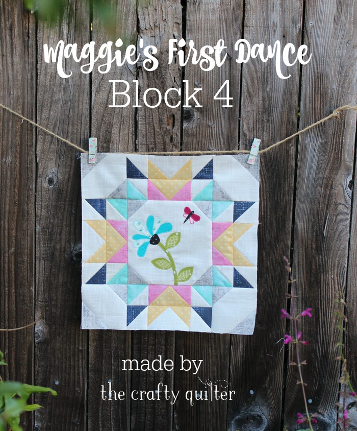 Maggie's First Dance, Block #4, made by Julie Cefalu @ The Crafty Quilter