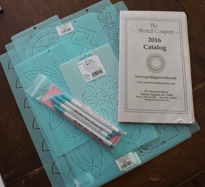 Stencils from The Stencil Company. Everything you need to know about how to use stencils for quilting. Lots of tips and information about choosing the best size, marking, and stitching from Julie @ The Crafty Quilter