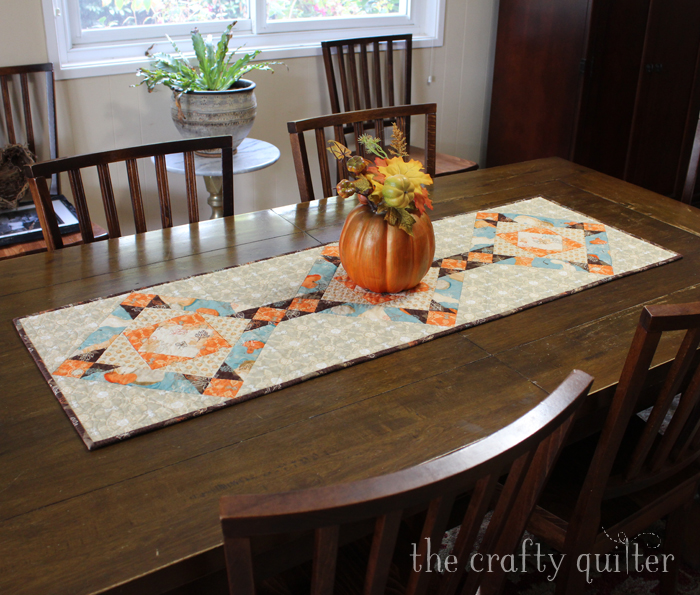 Fall Table Runner Tutorial @ The Crafty Quilter
