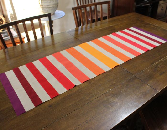 Pumpkin Spice Table Runner made by Julie Cefalu