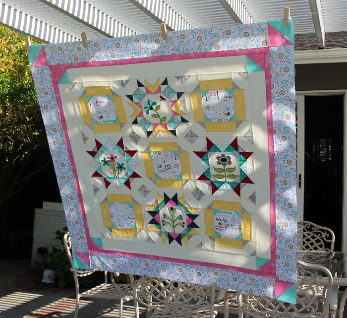 Maggie's First Dance BOM quilt made by Julie Cefalu @ The Crafty Quilter