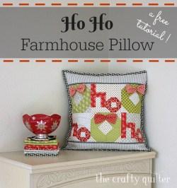 Ho Ho Farmhouse Tutorial @ The Crafty Quilter