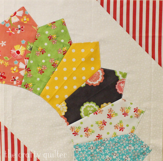 Hello Sunshine quilt block made by Julie Cefalu @ The Crafty Quilter