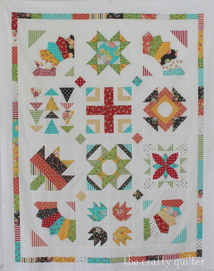 Sugar Block Sampler made by Julie Cefalu @ The Crafty Quilter