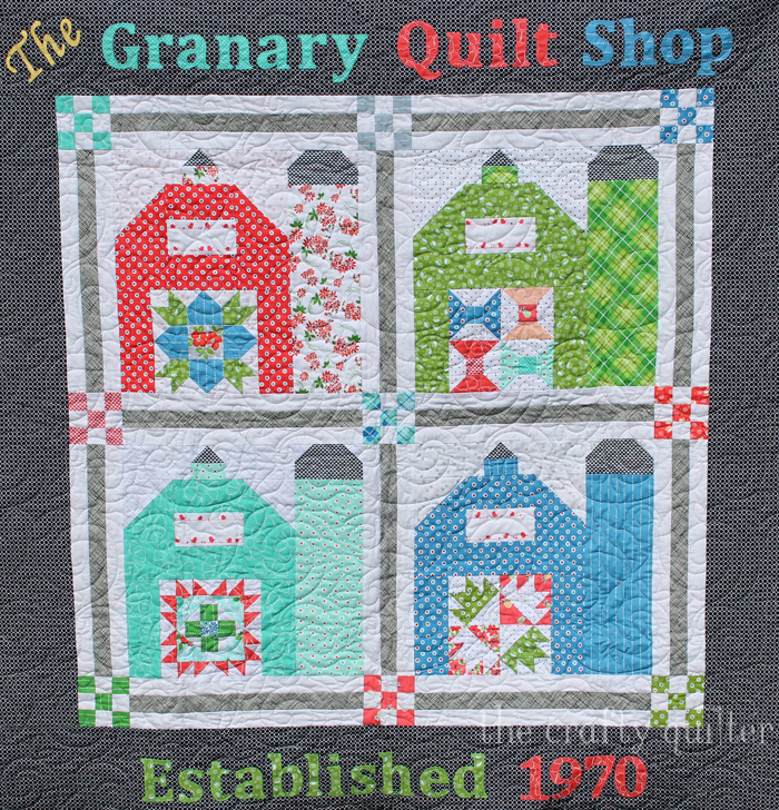 The Granary Quilt Shop Barnyard Sampler made by Julie Cefalu & Paula Ivers