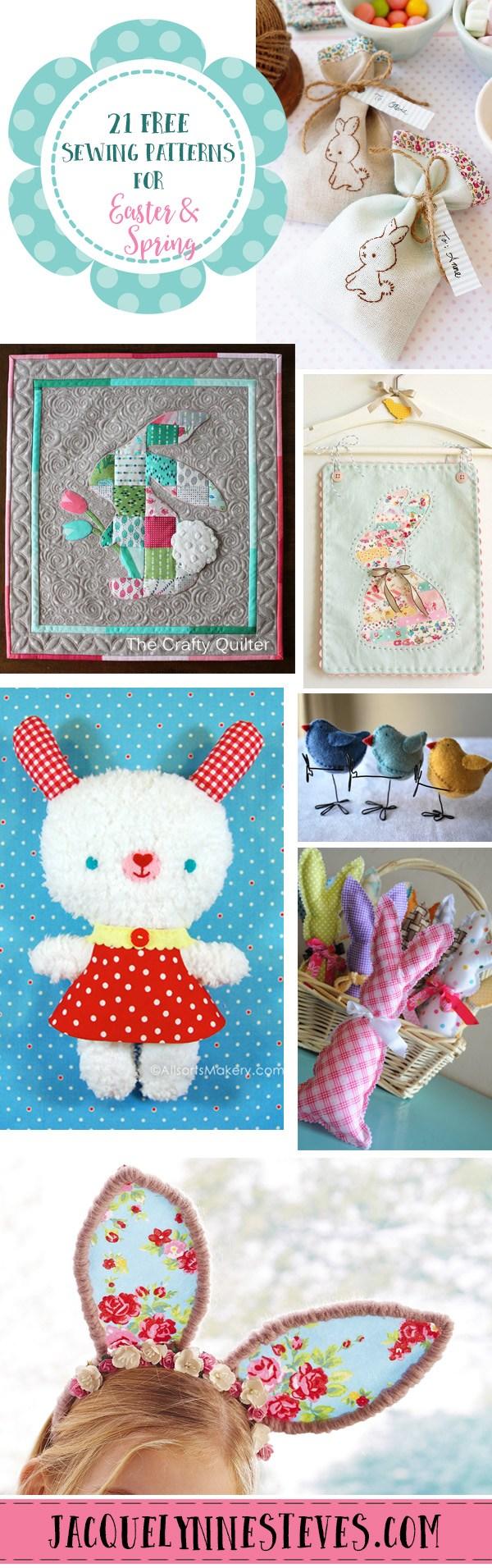 21 Free Sewing Patterns for Easter & Spring @ Jacquelynne Steves blog