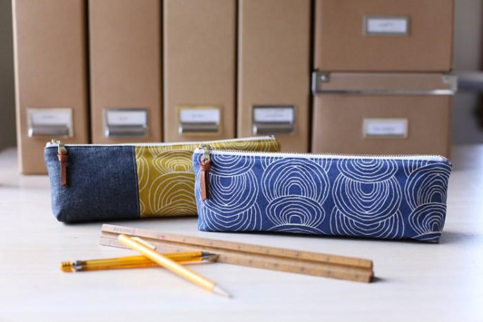 Canvas Pencil Pouch Tutorial @ NoodleHead