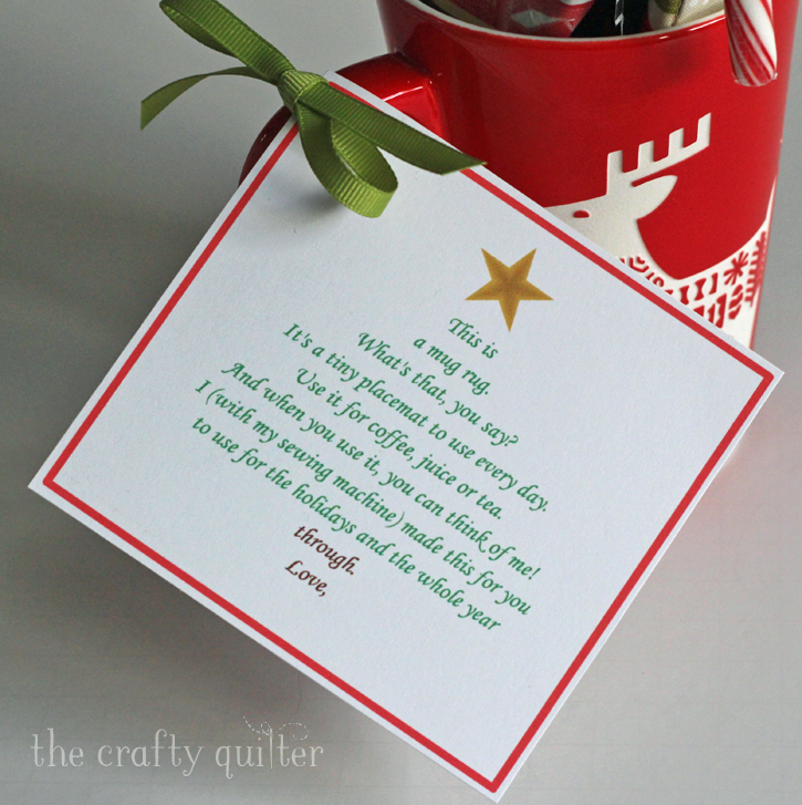 Mug Rug Poem for Christmas @ The Crafty Quilter