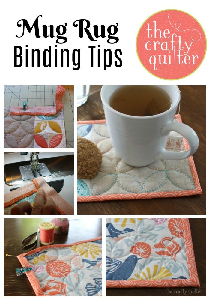 Check out these mug rug binding tips from The Crafty Quilter that will make your next mini quilt project a breeze!
