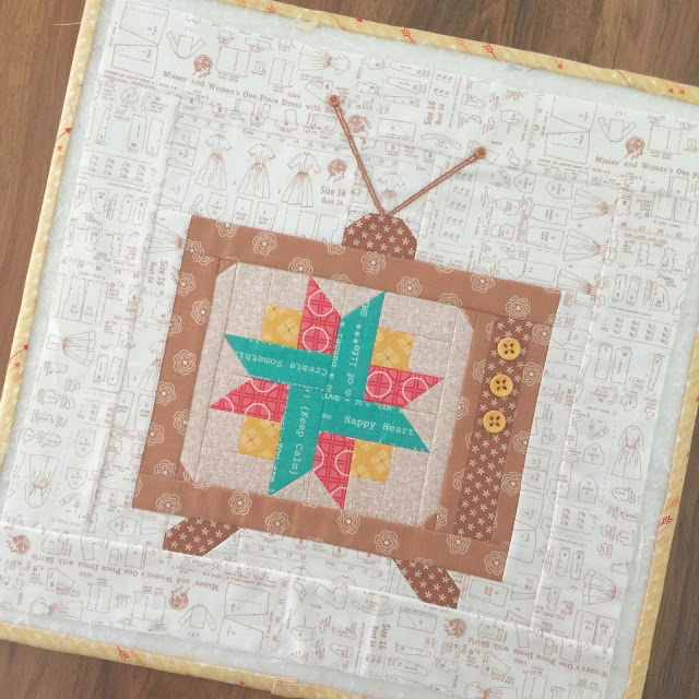 Vintage TV Block from Bee in my Bonnet