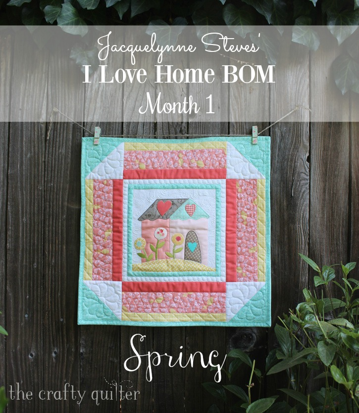 """Jacquelynne Steves' """"I Love Home"""" FREE BOM, Month 1, made by Julie Cefalu @ The Crafty Quilter"""