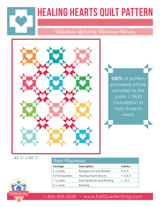 Healing Hearts Quilt Pattern at Fat Quarter Shop