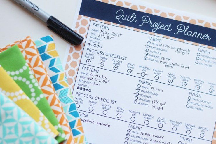 Quilt Project Planner @ Hello Melly Designs