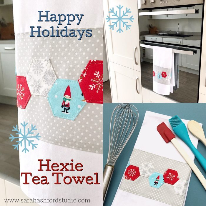 Hexie Tea Towel Tutorial by Sarah Ashford for Polkadot Chair