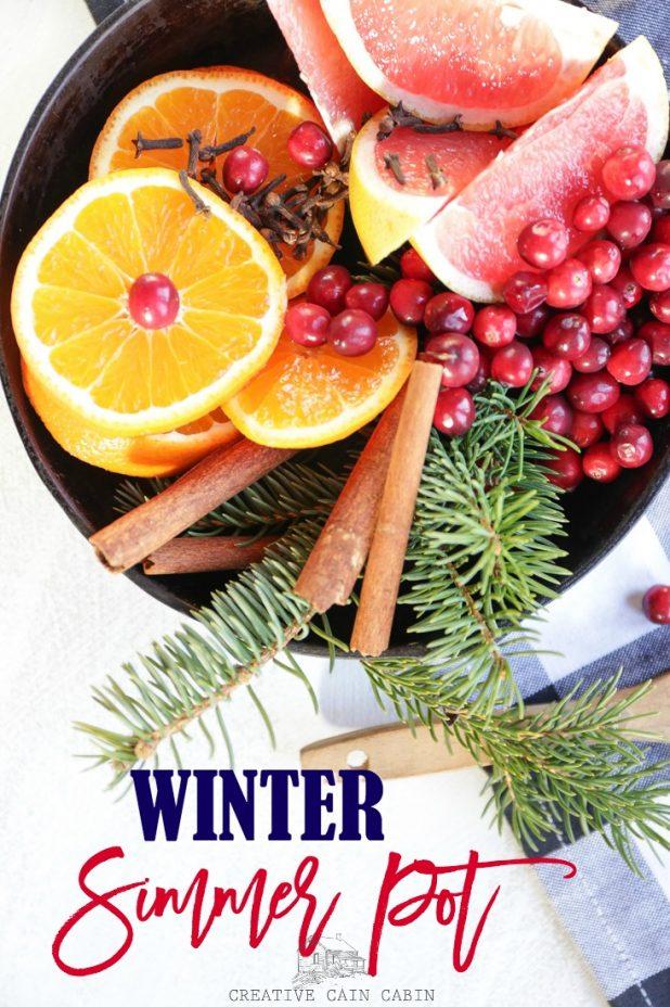 Winter Simmer Pot @ Creative Cain Cabin