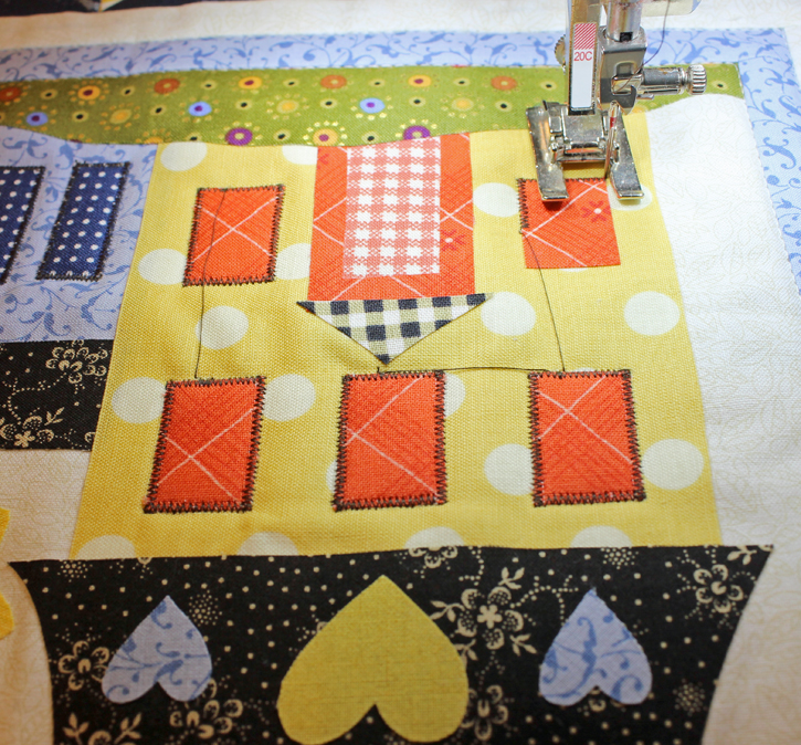 Jacquelynne Steves' I Love Home BOM Block 4, Summer version made by Julie Cefalu @ The Crafty Quilter