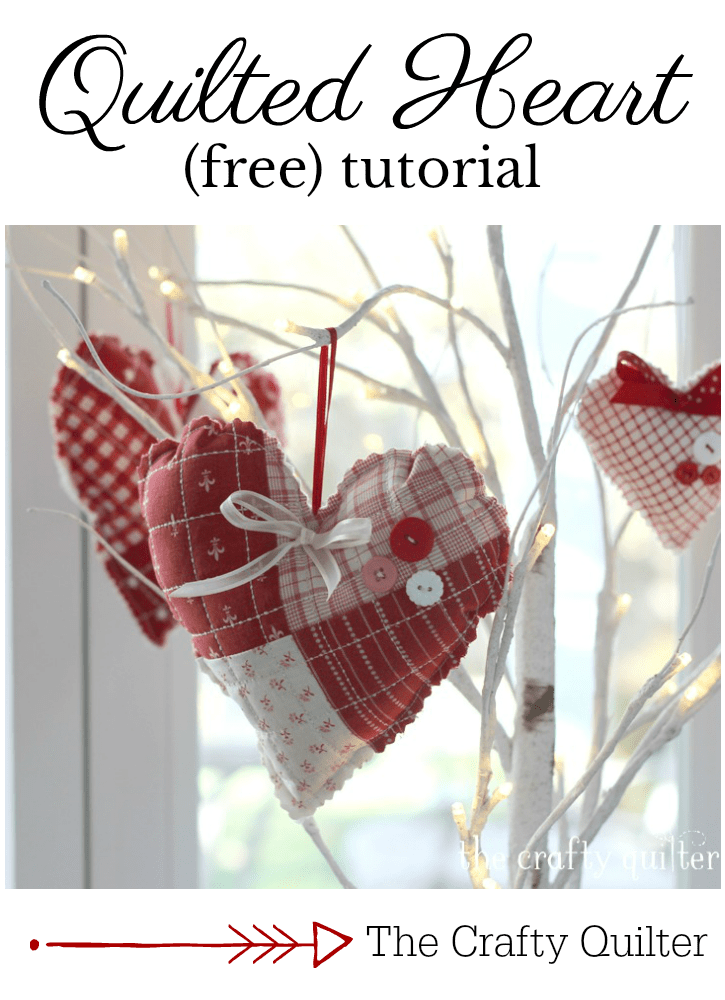 Quilted heart tutorial