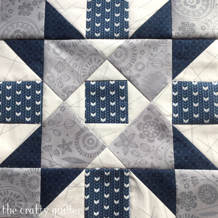 Quilt block made by Julie Cefalu. From the Vintage Sampler BOM pattern by Barbara Eikmeier