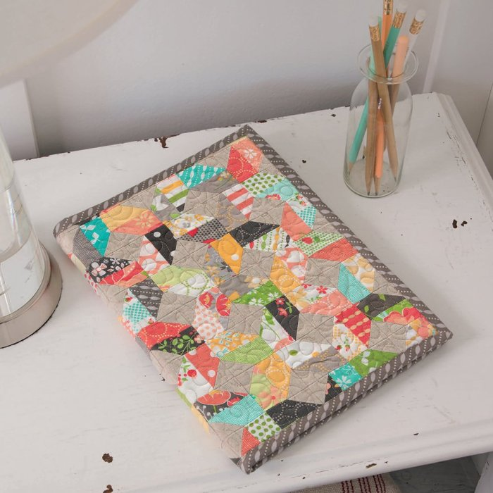 Charming Journal Cover by Corey Yoder for the book, Mini Charm Quilts
