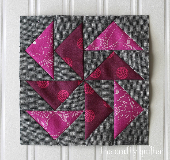 February quilt block for the Quilter's Planner BOM, made by Julie Cefalu