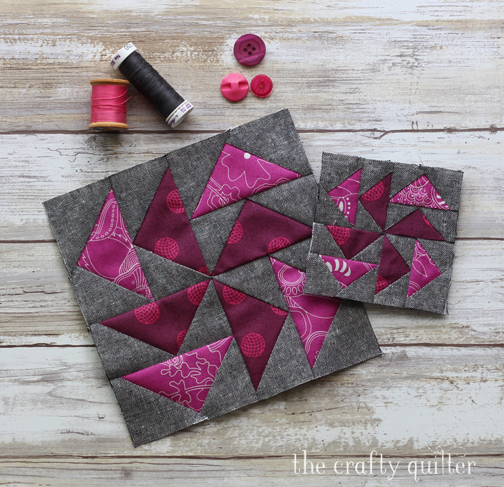 February quilt blocks for the Quilter's Planner BOM, made by Julie Cefalu