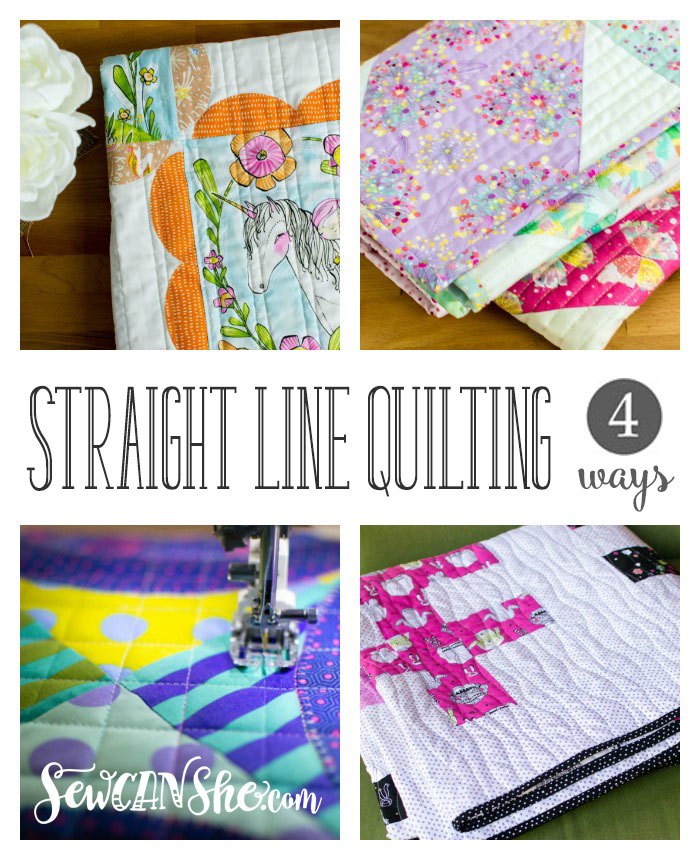 How to do Straight Line Quilting at Sew Can She