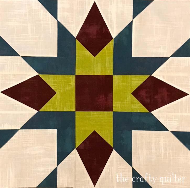 Franklin Star block made by Cynthia Marshall
