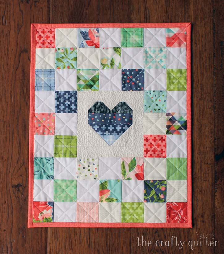 Doll quilt made by Julie Cefalu @ The Crafty Quilter