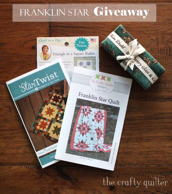 Giveaway at The Crafty Quilter for the Franklin Star Quilt and more