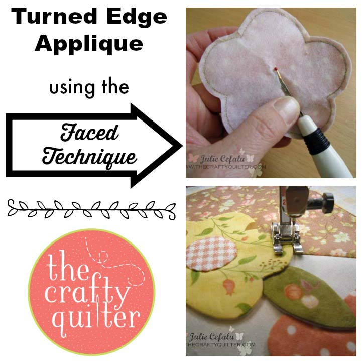May Day Basket tutorial part 2 includes detailed information about turned edge applique using the faced technique @ The Crafty Quilter.