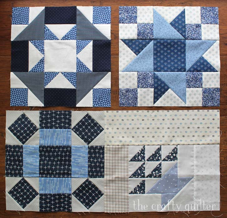 Vintage Sampler Quilt Blocks made by Julie Cefalu. Designed by Barbara Eikmeier