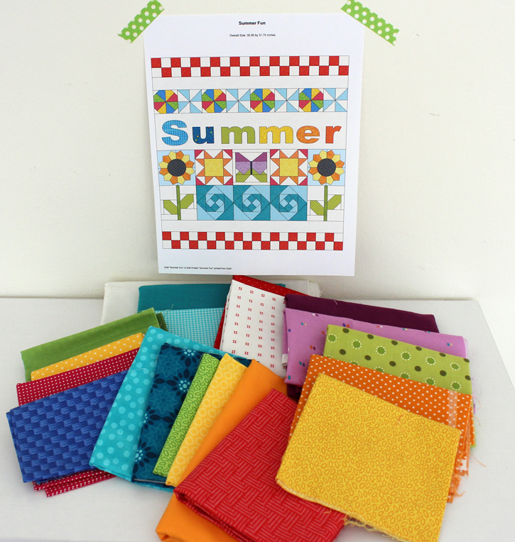 Summer Fun Quilt Along @ The Crafty Quilter starts June 1, 2018. A free tutorial for each section will presented weekly in 5 lessons.