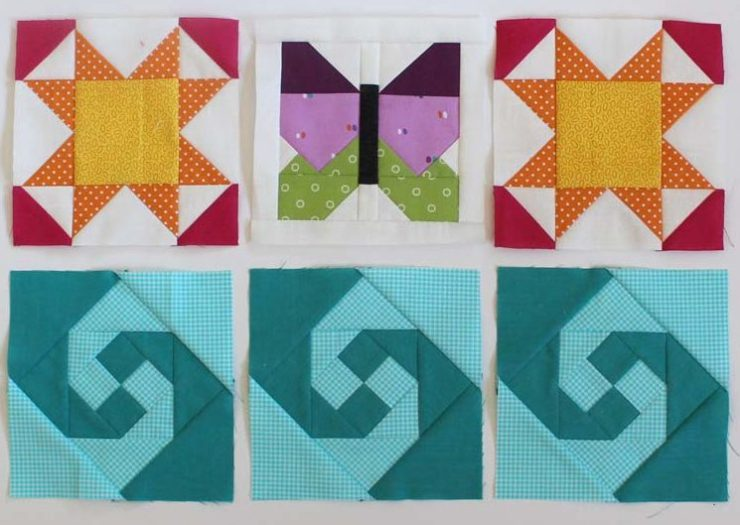"""The Summer Fun Quilt Along @ The Crafty Quilter creates a bright and happy wall hanging that measures 30"""" x 32"""". Week 5 instructions include the SUMMER applique section and finishing instructions."""