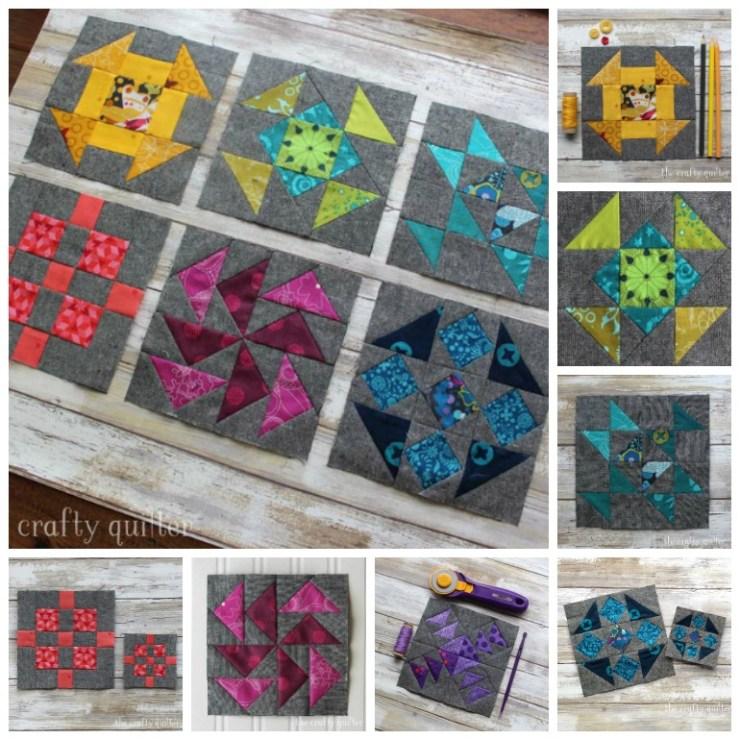 Quilter's Planner sampler blocks made by Julie Cefalu