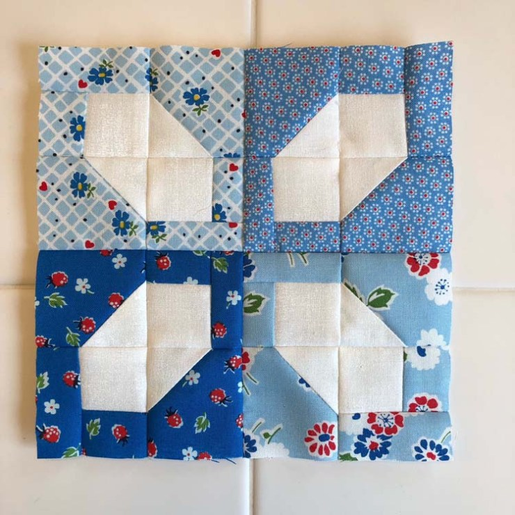Block 19 from the Patchsmith Sampler Sew Along; made by Julie Cefalu @ The Crafty Quilter