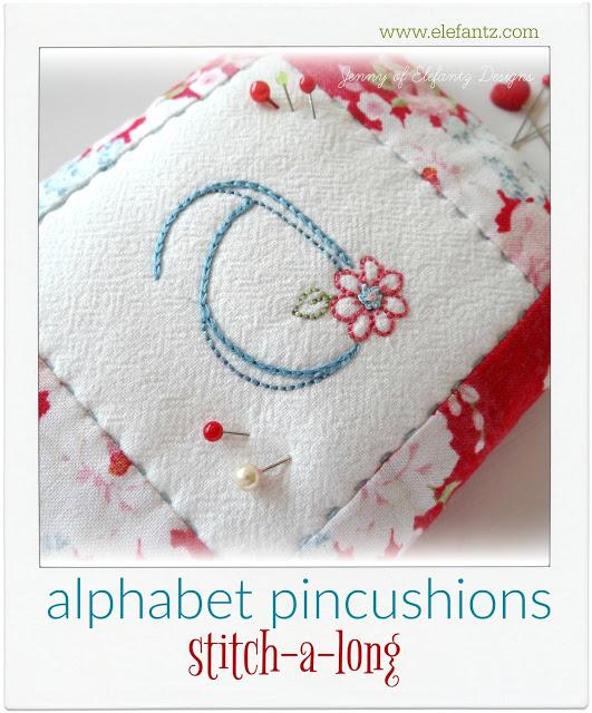 Alphabet Pincushion Stitch Along @ Elefantz