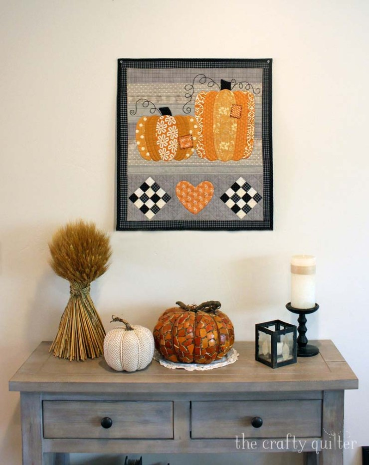 Patchwork Pumpkins Wall Hanging by Julie Cefalu @ The Crafty Quilter. Pattern coming soon!