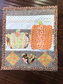 Patchwork Pumpkin wall hanging made by Annie Morgan