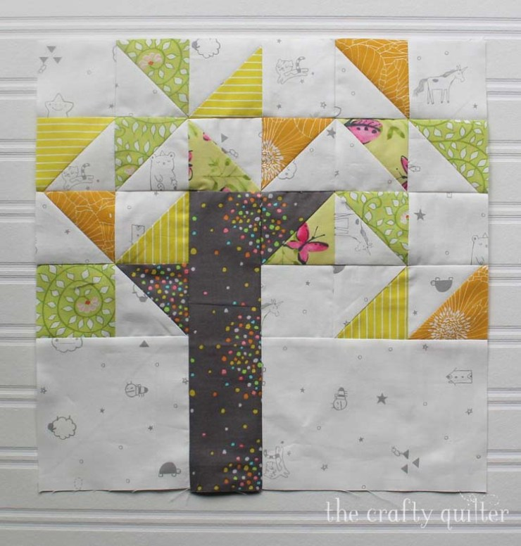 Willow Tree block from the Heartland Heritage BOM.  Made by Julie Cefalu @ The Crafty Quilter
