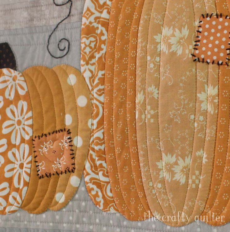 This Patchwork Pumpkins Wall Hanging is a perfect way to decorate your home with a little Farmhouse charm for the Fall. Pattern is designed and made by Julie Cefalu at The Crafty Quilter, and available for purchase (pdf only).