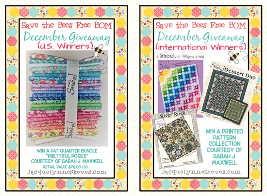 Save The Bees giveaway prize for December