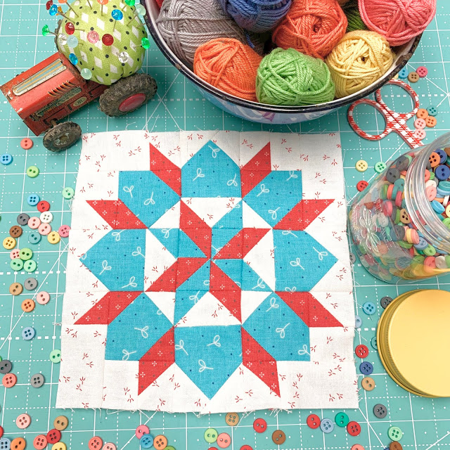 Grandma's Star Quilt Block Tutorial by Lori Holt @ Bee in My Bonnet