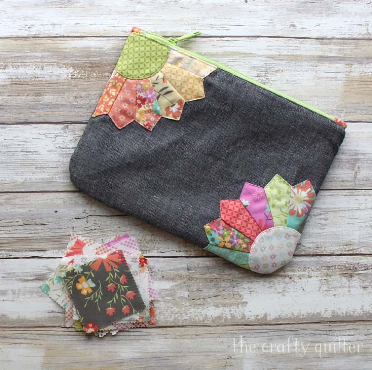 Double Dresden Pouch, made by Julie Cefalu. Pattern from Sew Lux Fabric.
