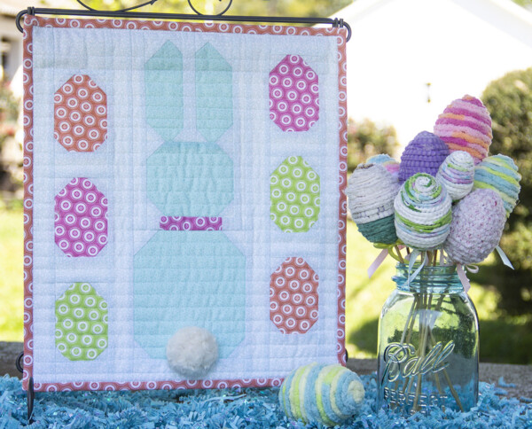 Easter Bunny Mini Quilt by Cherry Blossoms Quilting @ We All Sew; featured on Sew Thankful Sunday @ The Crafty Quilter