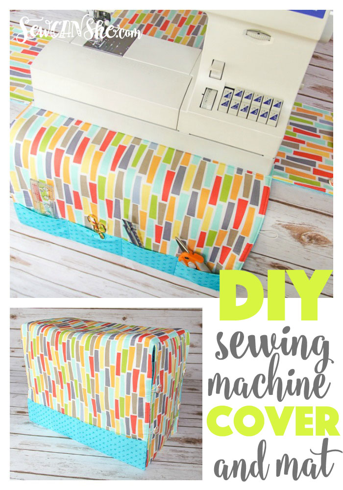 Sewing Machine Cover Tutorial by Crafty Staci at Sew Can She; featured on Sew Thankful Sunday @ The Crafty Quilter