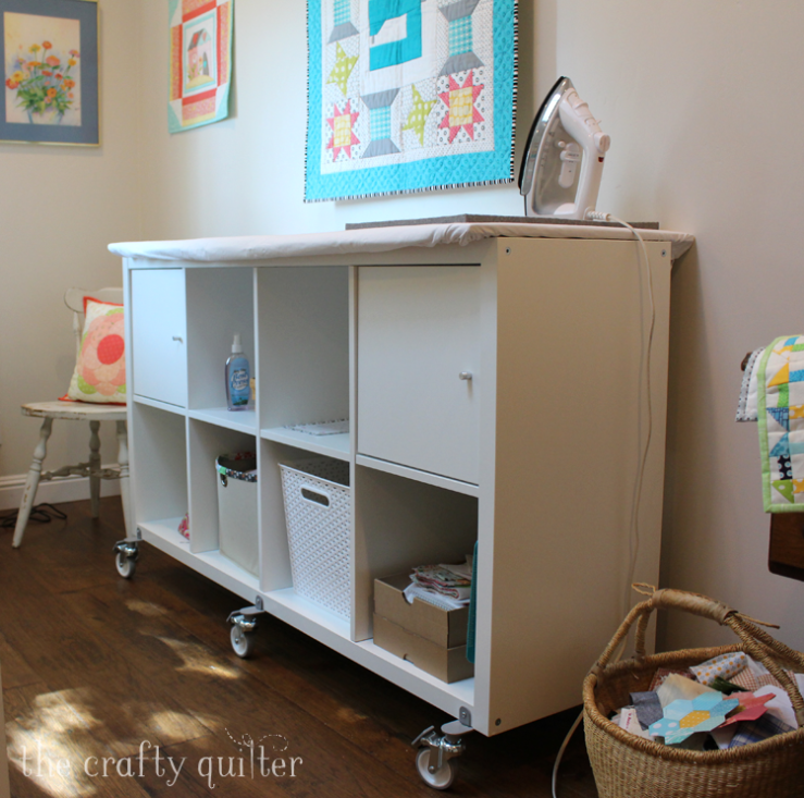 All of the details of my new sewing room at The Crafty Quilter