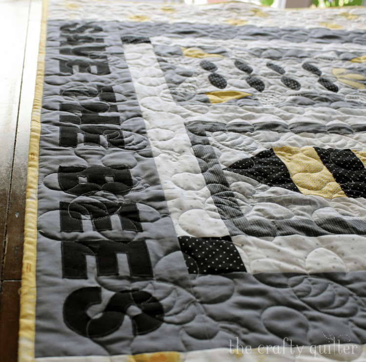 UFO Progress for June is my Save The Bees quilt from last year.