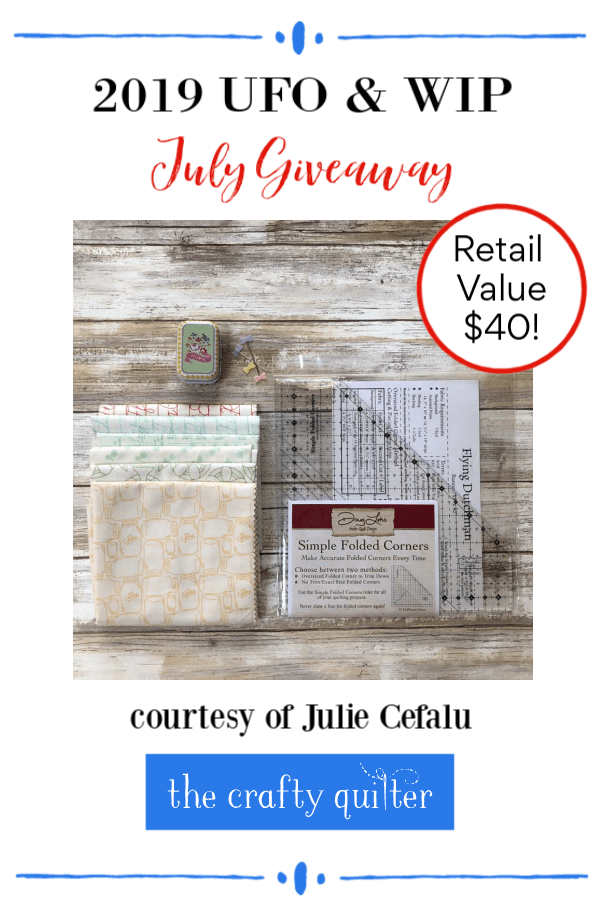 July UFO & WIP challenge prize package @ The Crafty Quilter